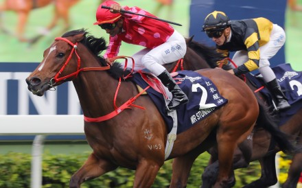 Mr Stunning wins the Hong Kong Sprint in 2018. Photos: Kenneth Chan