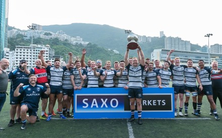 HKFC have won their second premiership title in a row and now head into the play-offs as favourites. Photo: HKRU