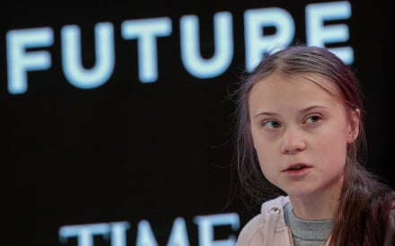Greta Thunberg, climate activist, speaks during a panel session on the opening day of the World Economic Forum in Davos. Photo: Bloomberg