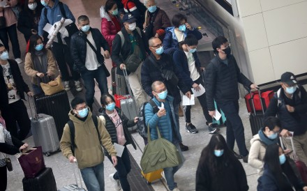 Mainland China arrivals at the West Kowloon high-speed rail station on Tuesday. Photo: Winson Wong