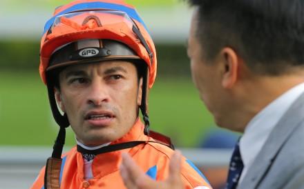 Silvestre de Sousa after riding a winner at Sha Tin. Photos: Kenneth Chan