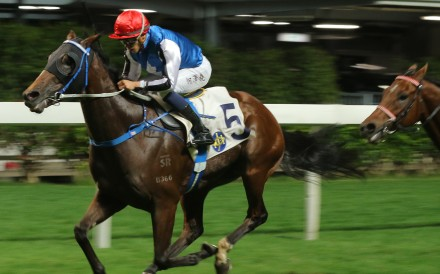 Naboo Star races away to break his maiden status in Hong Kong. Photos: Kenneth Chan