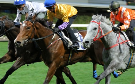Zac Purton trials More Than This (middle) at Happy Valley last month. Photos: Kenneth Chan