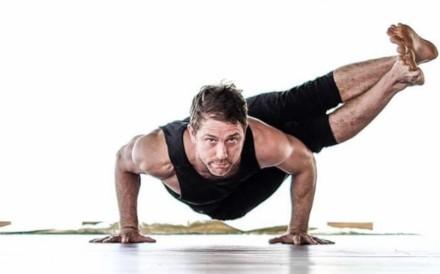 Patrick Creelman practising yoga. Photo: courtesy of Patrick Creelman
