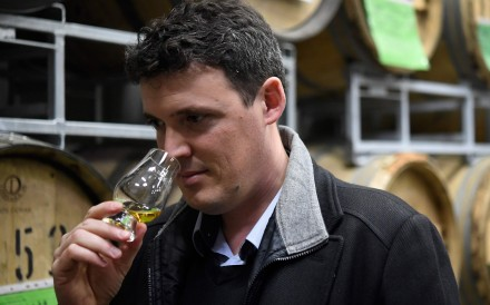 David Roussier, CEO of Armorik in Lannion, western France, believes that when it comes to the taste and quality of whisky, the French can give the Scots a run for their money. Photo: AFP