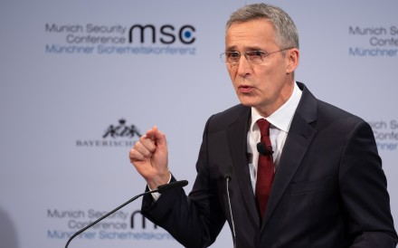 Jens Stoltenberg, Nato Secretary General, speaks during the 56th Munich Security Conference. Photo: dpa