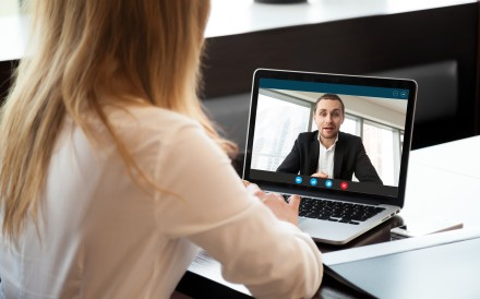 Use digital media to connect with your team and contacts when working from home. Photo: Shutterstock