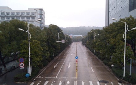 An empty street is seen in Wuhan, Hubei province in late January appeared on social media after a citywide lockdown. Photo: via Reuters