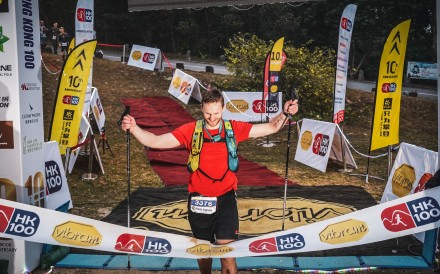 Mark Agnew finishes the Vibram Hong Kong 100. It was tough, but no more or less than a fast road run, just different. Photo: Stortograf