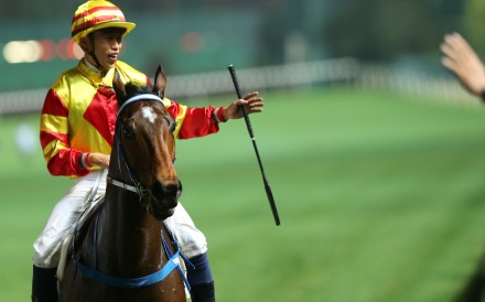 Vincent Ho returns to scale on Shamport after winning at Happy Valley this season. Photo: Kenneth Chan