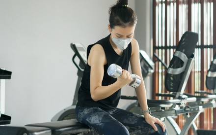 Working out in a mask is not ideal, a doctor says. Photo: Shutterstock