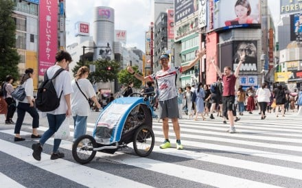 The busy streets of Tokyo present a different challenge to hours on a treadmill. Photo: Handout
