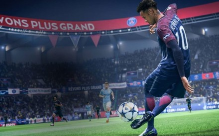 Neymar of PSG in action on the Fifa 20 video game, made by EA Sports. Photo: EA Sports