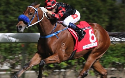 Dancing Fighter kicks clear to win at Happy Valley in December. Photos: Kenneth Chan