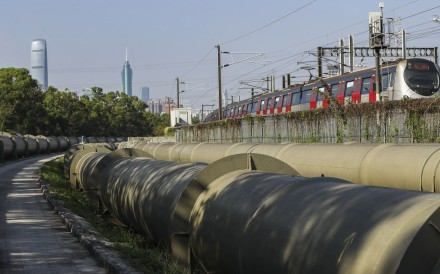 Pipes in Sheung Shui, part of Hong Kong's network to supply water from Guangdong. Photo: Edward Wong