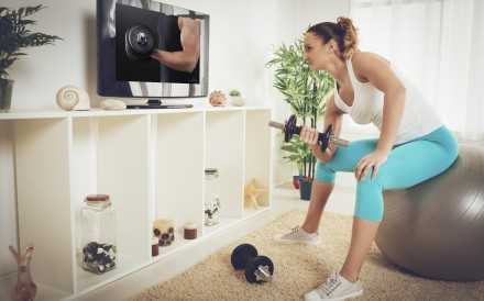 Keeping fit online is proving an important way for gyms to keep their members exercising during the coronavirus home quarantine. Photo: Shutterstock