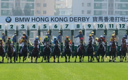 Horses jump in the Hong Kong Derby at Sha Tin last week. Photos: Kenneth Chan