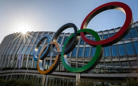 The Olympic Rings outside the International Olympic Committee (IOC) headquarters in Lausanne, Switzerland. Photo: AFP