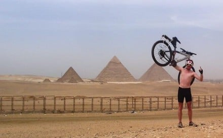 Rory Mackay arrives in Cairo, having cycled from South Africa. Now he shares adventures with Hongkongers through his company. Photos: Wild Hong Kong
