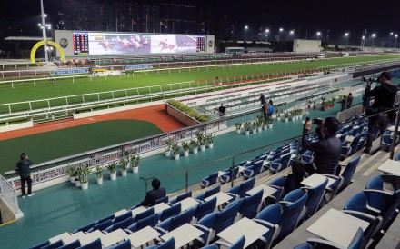 Horses race in front of a sparse Sha Tin on Wednesday night. Photos: Kenneth Chan