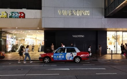 The Valentino store in the Harbour City mall on Canton Road in Tsim Sha Tsui, one of Hong Kong's prime luxury retail strips, will close at the end of business on Monday, the Italian fashion brand announced. Luxury retail sales have plunged amid street protests and travel curbs to limit the spread of coronavirus. Photo: Shutterstock