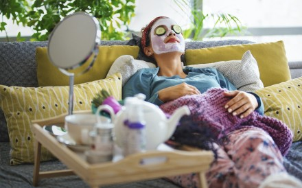 Can't go out? Bring the spa to you with some home pampering. Photo: Getty Images