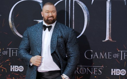 Hafthor Julius Bjornsson arrives for the premiere of the final season of Game of Thrones at Radio City Music Hall in New York. Photo: Reuters