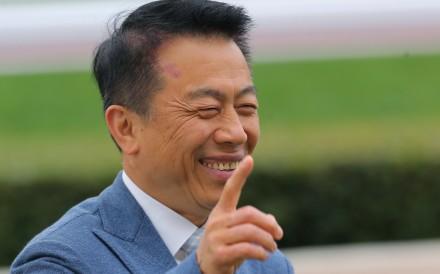 Ricky Yiu celebrates a winner. Photos: Kenneth Chan