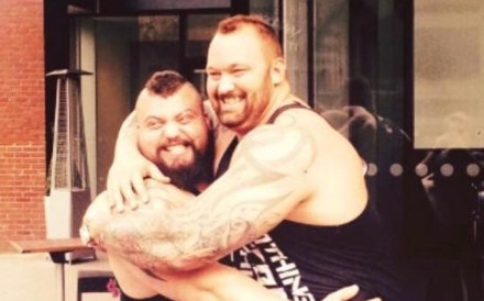 Eddie Hall and Hafthor Bjornsson are set to fight in the ring. Photo: Eddie Hall/Facebook