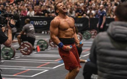"Zack George, nicknamed the ""Silverback"", in full beast mode. Photo: Handout"