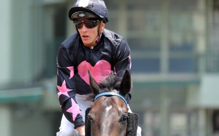Chad Schofield returns after winning on Wonder Express at Sha Tin. Photos: Kenneth Chan