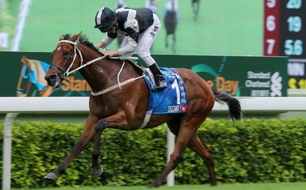 Exultant takes out the Champions & Chater Cup on May 24. Photo: Kenneth Chan