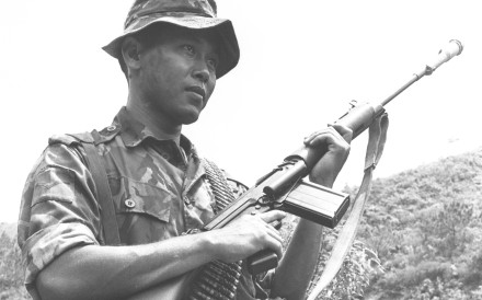 A Gurkha soldier serving in British Hong Kong. A history of the Gurkhas, Nepali soldiers who served in the British Army and some other countries' armed forces, written by one of their own has some good points to make, but its writing style will put off many readers. Photo: Sunny Lee