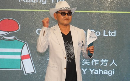 Trainer Yoshito Yahagi at last year's Champions Day barrier draw. Photos: Kenneth Chan