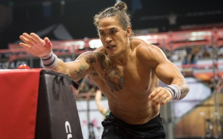 Ant Haynes at last year's Asia CrossFit Championship, where he came third. He said in a statement he does not accept Greg Glassman's apology. Photo: Shaun Cleary