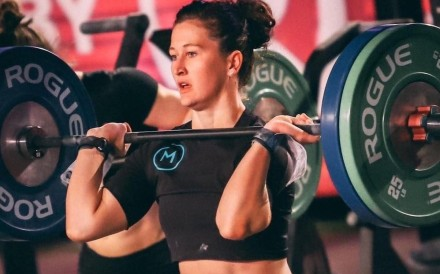 Tia-Clair Toomey, three times CrossFit Games champion, is competing at the Rogue Invitationals. Photo: Handout