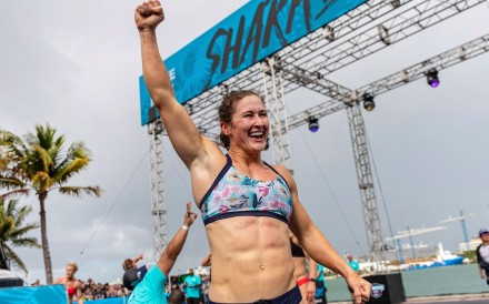 Tia-Clair Toomey, here at the Wodapalooza, is in pole position after day one of the Rogue Invitationals. Photo: Wodapalooza