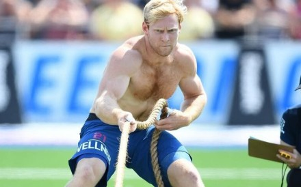 Patrick Vellner, at the CrossFit Games, is the Rogue Invitational champion. Photo: Handout