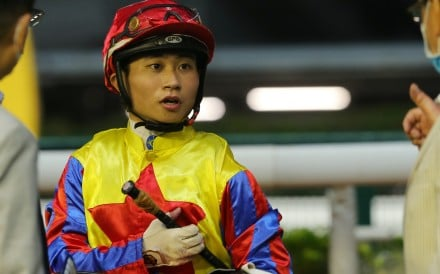 Dylan Mo after riding a winner at Happy Valley. Photos: Kenneth Chan