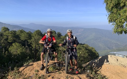Ryan Blair and Jay Kiangchaipaiphana in Myanmar's Chin state, in January. Photo: Asia Pacific Adventure/Uncharted Horizons Myanmar