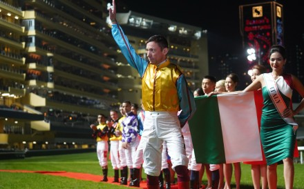 Frankie Dettori at Happy Valley during the 2019 International Jockeys' Championship. Photo: Kenneth Chan