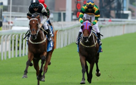 Furore (right) finishes third in last month's Group One Champions & Chater Cup. Photos: Kenneth Chan