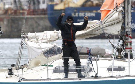 Juan Manuel Ballestero crossed the Atlantic on a small sailing boat. Photo: AP