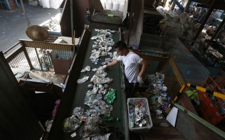The price of virgin plastic is now lower than that for the recycled version, leaving Hong Kong firm's struggling to find a market for their goods. Photo: Jonathan Wong