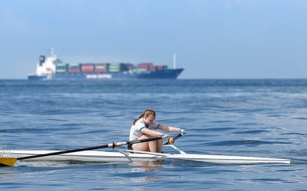 Kirra Cameron, teenage power lifter turned rower, says the biggest competition is herself. Photos: Royal Hong Kong Yacht Club