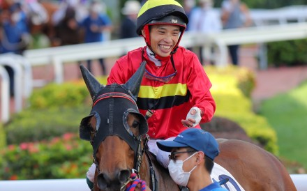 Jack Wong returns after winning on Water Diviner at Sha Tin on Saturday. Photos: Kenneth Chan