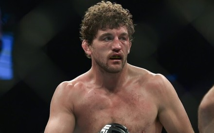 Retired MMA fighter Ben Askren during his fight against Demian Maia at UFC Fight Night in Singapore in October 2019. Photo: Handout