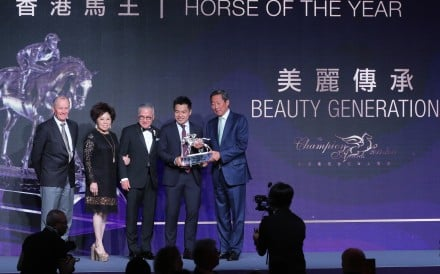 Beauty Generation is crowned Horse of the Year for 2017-18. Photo: Kenneth Chan