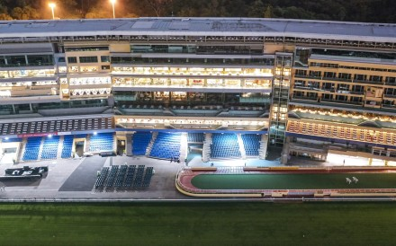 Happy Valley is deserted on September 18 after the Hong Kong Jockey Club decided to cancel a race meeting. Photo: Martin Chan