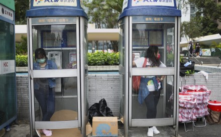 Foreign domestic workers on a day off in Central. Photo: Winson Wong